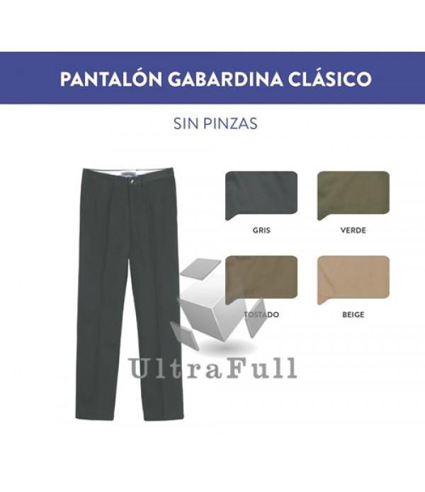PANTALÓN GABARDINA CLÁSICO SIN PINZAS
